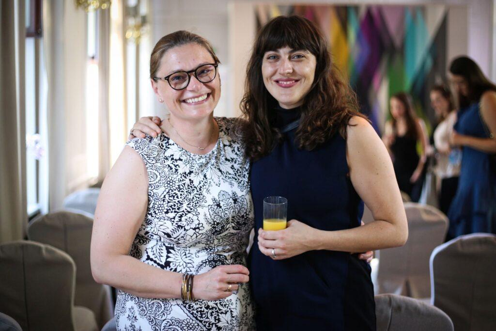 Nina Bojczenko i Ania Mazurkiewicz na podsumowaniu TopMinds 2021